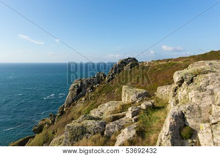 Zennor Head promontory Cornwall England UK near St Ives on the South West Coast Path