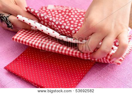 Needlework, patchwork