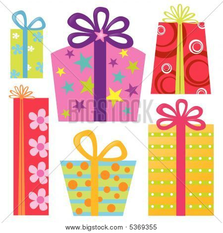 Isolated Presents/Gifts Vector Set