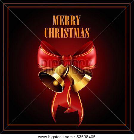 Christmas illustration with jingle bells