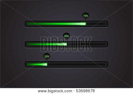 Vector shiny progress bars