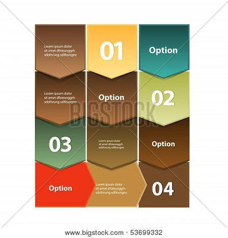 Vector colorful infographic design