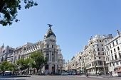 Metropolis building situated on representative Gran Via street