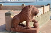 stock photo of kanyakumari  - Lion statue - JPG