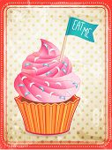 image of eat me  - ector cupcake with  - JPG