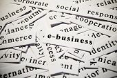 E-business. Concept Of Words Related With Business