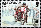 Motorcycle Race Stamp #5