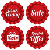 stock photo of friday  - Colorful black friday - JPG