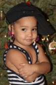 Little Girl Posed Like A Rapper