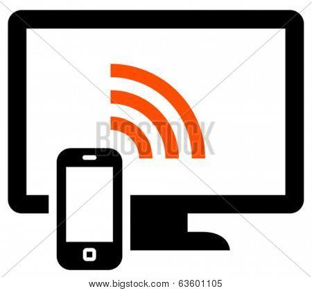 Phone remote control vector icon