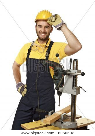 Carpenter At Work Detail