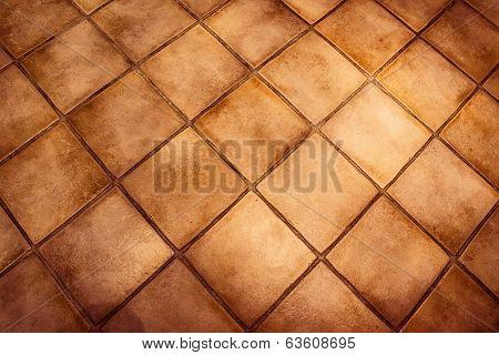 Background Surface Of Vintage Tiles