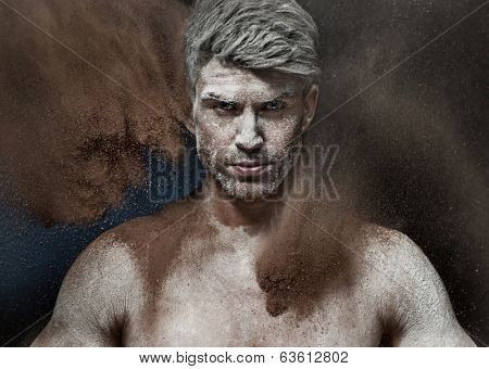 Portrait of a man in a dust