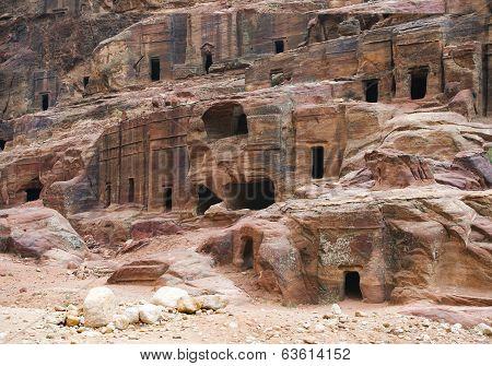 Remains Of Nabatean City Petra In Jordan