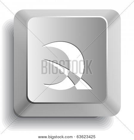 Abstract monetary sign. Computer key. Raster illustration.