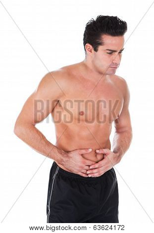 Man Having Stomachache