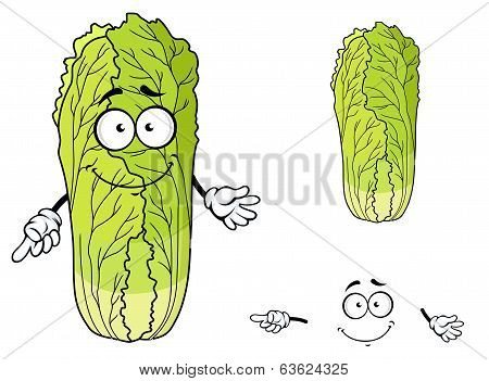 Healthy leafy cartoon Chinese cabbage vegetable