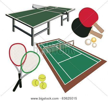 set of icons for tennis