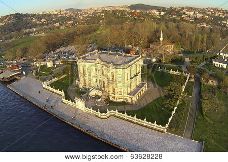 Aerial of Kucuksu in Istanbul Turkey