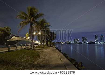 Miami And Biscayne Bay Skyline