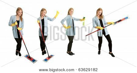 Photos Of Young Cleaning Woman