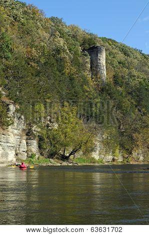 Kayak near Chimney rock