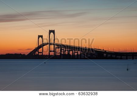 Newport Pell Claiborne Bridge Sunset