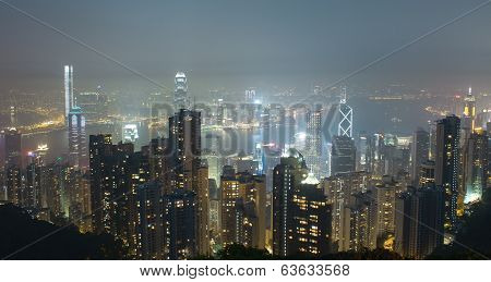 Panorama Of Hong Kong And Kowloon From Victoria Gap, Near The Top Of Victoria Peak