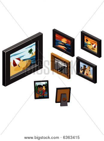 Set Of Frame Isometric