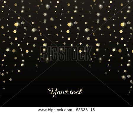 Abstract background with golden stripes of circles