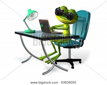 Frog At The Table