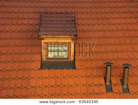 Dormer Window - Red Tile Roof