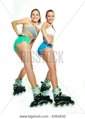 Girl With Rollerskates