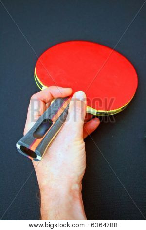 Table tennis bat.