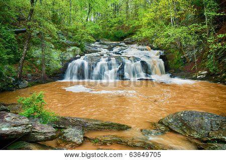Rushing waterfall in Georgia mountains near Atlanta