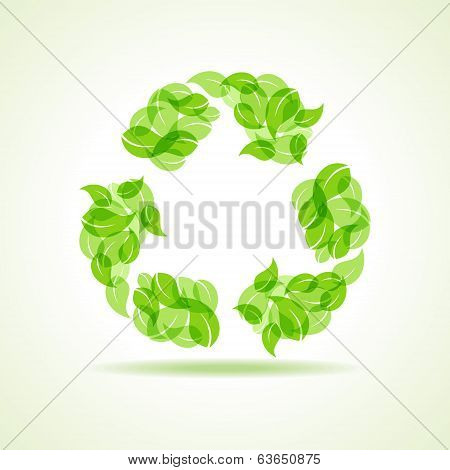 Eco leaves make a recycle icon
