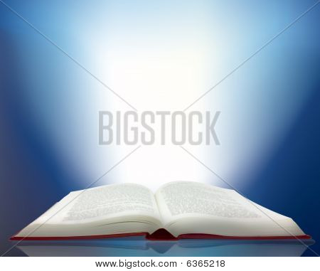 Ray Of Light Shining From A Book