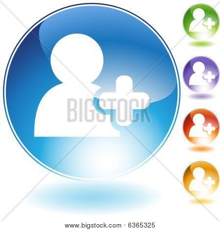 Añadir icono de cristal de amigo