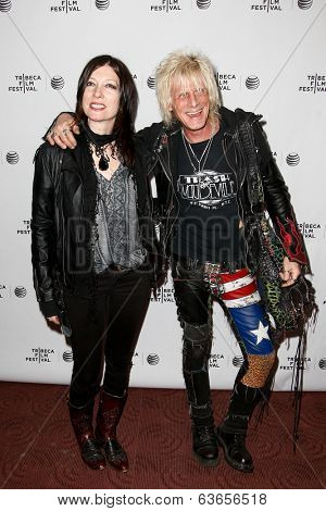 NEW YORK-APR 17: Heart and Jimmy Webb (R) attend the 'Super Duper Alice Cooper' premiere during the 2014 TriBeCa Film Festival at Chelsea Bow Tie Cinemas on April 17, 2014 in New York City.