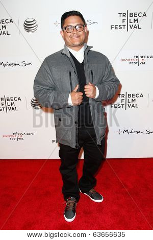 NEW YORK-APR 17: Carlos Jovel attends the 'When the Garden Was Eden' premiere at the 2014 TriBeCa Film Festival at the BMCC Tribeca PAC on April 17, 2014 in New York City.