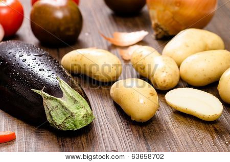 Eggplant And Potatoes