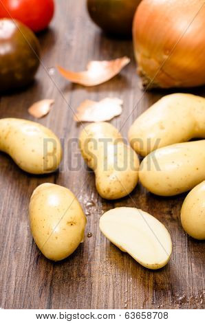 Potatoes And Onion
