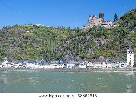 Sankt Goarshausen,Rhine River,Germany