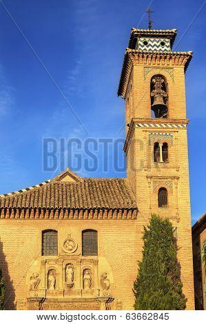 Church Iglesia Of Santa Anna Rio Darro Granada Andalusia Spain