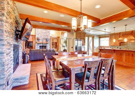 Luxury House Interior. Dining Room
