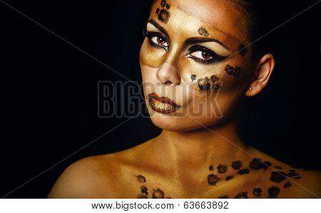 Girl Leopard