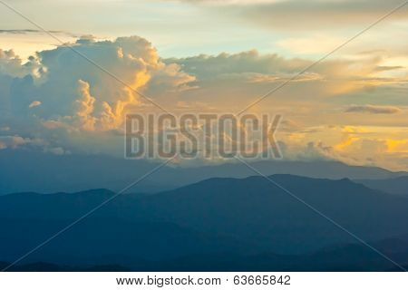 Mountain And Cloud