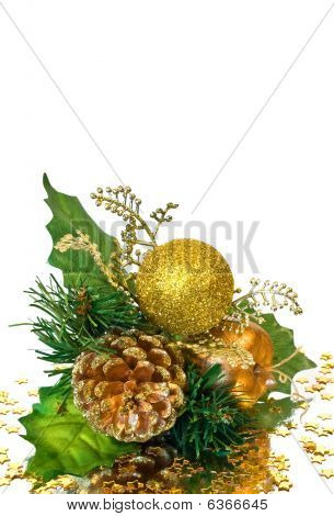 Christmas Decoration - Green Gold Branch