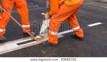 Affixing Line Marking