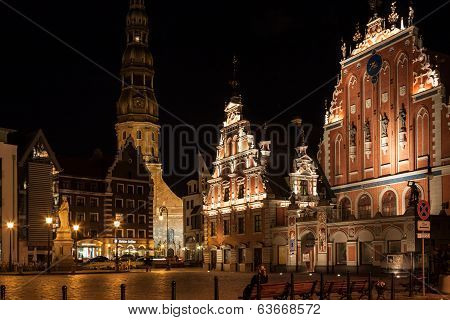 Riga - Capital Of Latvia. Old City,
